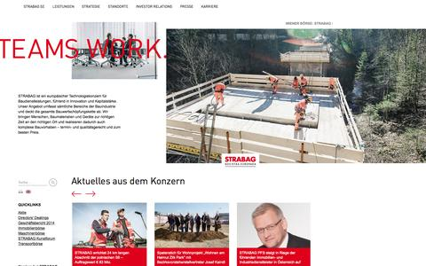 Screenshot of Home Page strabag.com - STRABAG SE - Willkommen bei STRABAG - captured Nov. 11, 2015