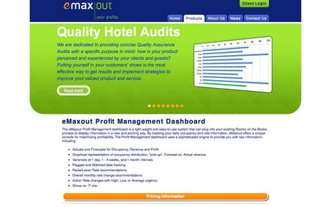 Screenshot of Products Page emaxout.com - eMaxout Solutions Inc. - Products - captured Sept. 30, 2014
