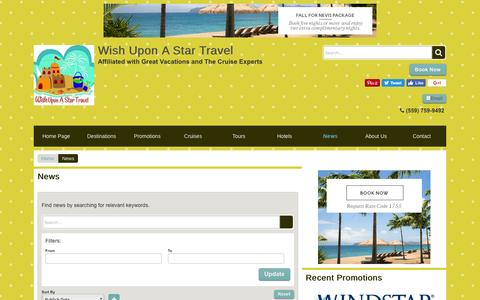 Screenshot of Press Page wishuponastartravel.com - News   Wish Upon A Star Travel - captured Dec. 14, 2016