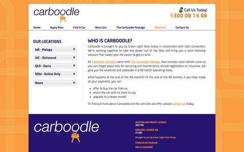 Screenshot of About Page carboodle.com.au - About Carboodle   Carboodle New and Used Cars - captured Nov. 2, 2014