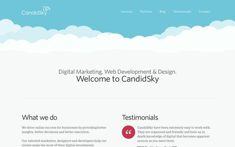 Screenshot of Home Page candidsky.com - CandidSky - A Digital Marketing & Web Development Agency in Manchester - captured Sept. 22, 2014