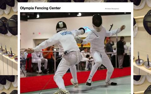 Screenshot of FAQ Page olympiafencingcenter.com - Fencing questions for beginners | Olympia Fencing Center - captured Oct. 9, 2014