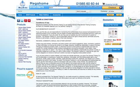 Screenshot of Terms Page megahome-distillers.co.uk - Terms & Conditions - captured Oct. 27, 2014