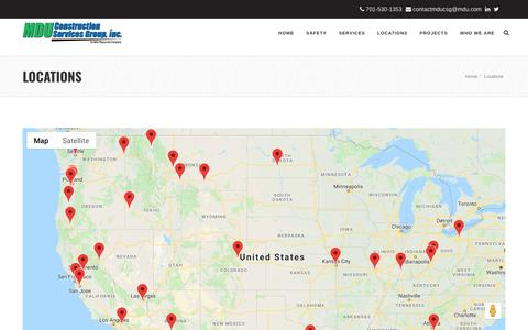 Screenshot of Locations Page mducsg.com - Locations - captured Oct. 1, 2018