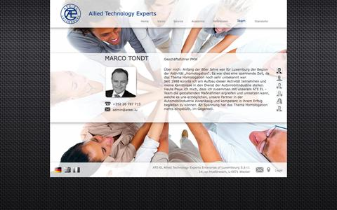 Screenshot of Team Page ateel.lu - Allied Technology Experts - captured Oct. 4, 2014