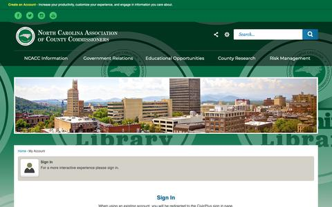 Screenshot of Login Page ncacc.org - NCACC - captured Oct. 19, 2018