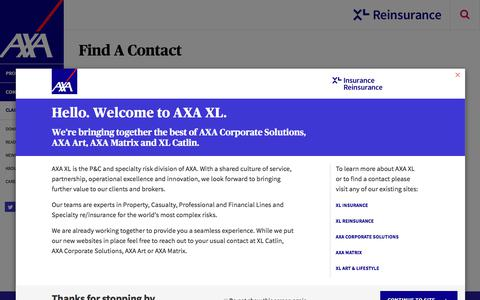 Screenshot of Team Page axaxl.com - Our People | AXA XL - Reinsurance Segment - captured Sept. 19, 2018