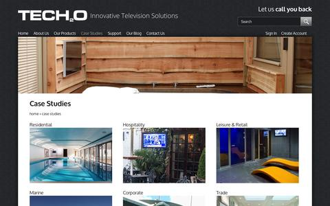 Screenshot of Case Studies Page tech2o.tv - Case Studies | Innovative Television Solutions | Tech2o - captured Oct. 7, 2014