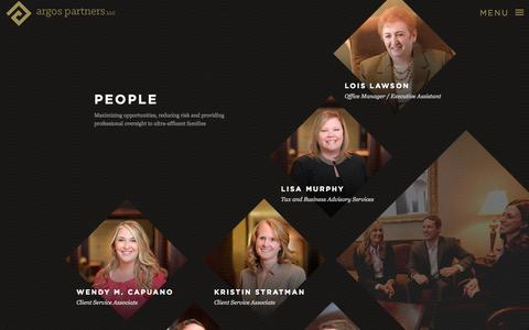 Screenshot of Team Page argosfamilyoffice.com - People   St. Louis Family Office - Argos Partners, LLC - captured Oct. 4, 2014