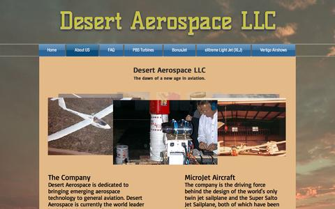 Screenshot of About Page desertaerospace.com - desertaerospace | About US - captured Nov. 24, 2016