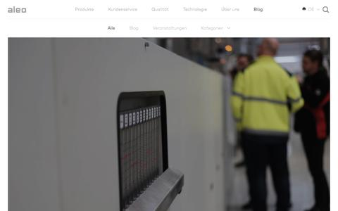 Screenshot of Blog aleo-solar.de - Blog - aleo solar - captured July 27, 2016