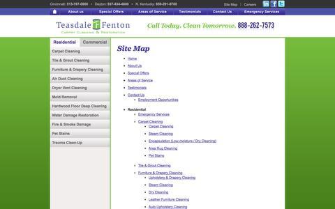 Screenshot of Site Map Page teasdalefenton.com - SITE MAP - captured Oct. 27, 2014