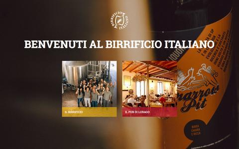 Screenshot of Home Page birrificio.it - Birrificio - captured Oct. 14, 2015
