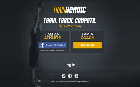 Screenshot of Login Page trainheroic.com - Train Heroic - captured Sept. 24, 2014