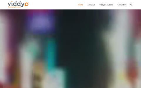 Screenshot of Home Page viddyo.com - Viddyo - Personality Powered - captured Jan. 10, 2016