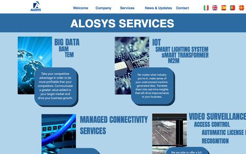 Screenshot of Services Page alosys.it - Alosys | Service Provider | ICT | MSP | Services - captured Oct. 8, 2017
