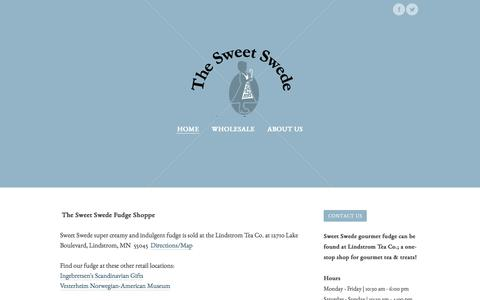 Screenshot of Home Page thesweetswede.com - The Sweet Swede - Home - captured Feb. 15, 2016