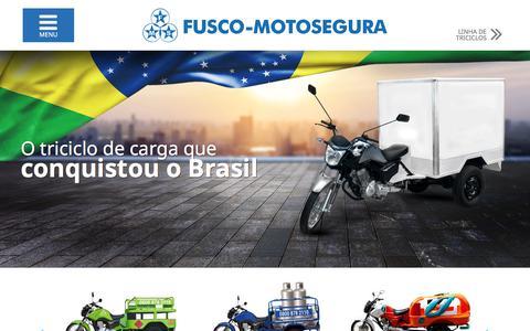 Screenshot of Home Page fuscomotosegura.com.br - Fusco-Motosegura | O Triciclo de Carga que conquistou o Brasil - captured June 5, 2017