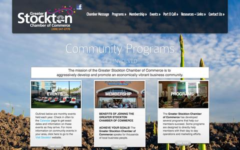 Screenshot of Home Page stocktonchamber.org - Greater Stockton Chamber of Commerce | - captured Oct. 3, 2014