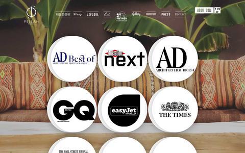 Screenshot of Press Page fellah-hotel.com - Press   Luxury Hotel Marrakech   - captured March 17, 2016