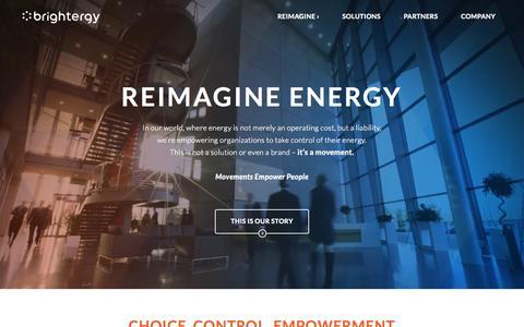 Screenshot of Home Page brightergy.com captured Sept. 13, 2015