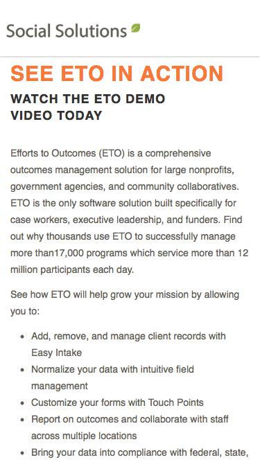 Request a Demonstration of ETO