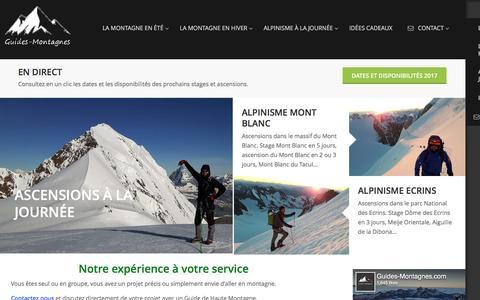 Screenshot of Home Page guides-montagnes.com - Accueil-Guide de Haute Montagne Alpes-Mont Blanc-Ecrins - captured March 21, 2017