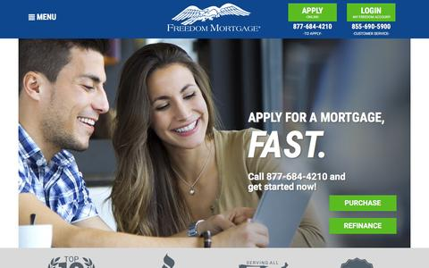 Freedom Mortgage: Fostering home ownership for over 25 years. Conventional, FHA, VA and Refinance mortgage loans