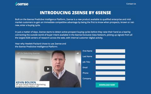 Screenshot of Landing Page 6sense.com - 6Sense: Predictive Intelligence Engine - captured Jan. 3, 2017