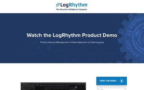 Watch the LogRhythm Product Demo | LogRhythm