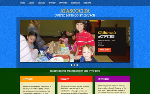 Screenshot of Home Page aumc.org - Atascocita UMC - captured Oct. 4, 2014