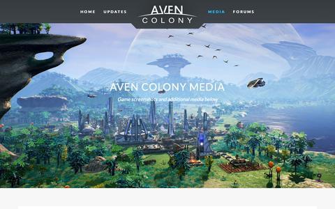 Screenshot of Press Page mothership-entertainment.com - Media » Aven Colony - captured Nov. 30, 2016