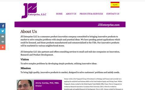 Screenshot of About Page jzenterprise.com - About Us: JZ Enterprise, LLC - captured Oct. 6, 2014