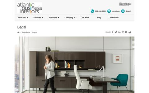 Screenshot of Terms Page atlanticbusinessinteriors.ca - Legal - Atlantic Business Interiors - captured July 31, 2018