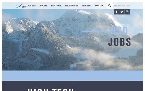 Screenshot of Jobs Page bsd-portal.de - BSD Portal: Jobs - captured Oct. 6, 2018