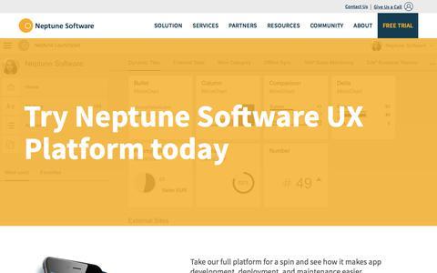 Screenshot of Trial Page neptune-software.com - Download and Start Free Trial | Neptune Software - captured June 17, 2017