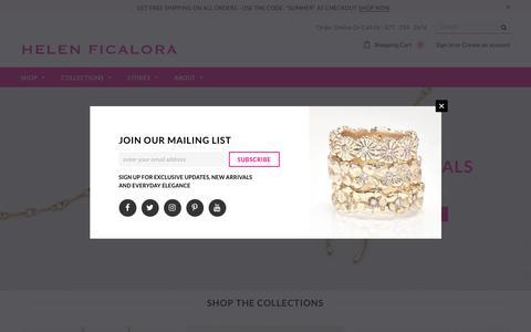 Screenshot of Home Page helenficalora.com - Helen Ficalora - captured Sept. 22, 2018