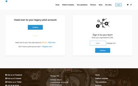 Screenshot of Login Page skylegs.com - Skylegs - Login - captured Nov. 14, 2017