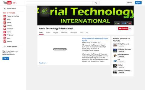 Screenshot of YouTube Page youtube.com - Aerial Technology International  - YouTube - captured Nov. 2, 2014