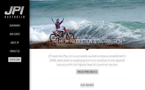 Screenshot of Home Page jpihq.com - JPI | Premium Production & Distribution - captured Oct. 4, 2014