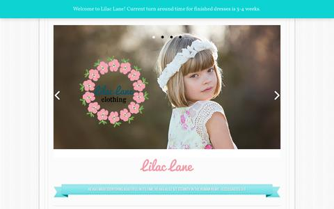 Screenshot of Home Page lilaclanepatterns.com - Girls Dress Patterns and Fun Accessories - captured Oct. 9, 2015