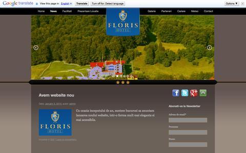 Screenshot of Press Page hotelfloris.ro - News | Hotel Floris - Cazare Cheia, Hotel CheiaHotel Floris – Cazare Cheia, Hotel Cheia - captured Sept. 30, 2014