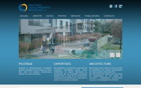 Screenshot of Home Page expert-immo.ch - Expertise immobilière et technique à Genève et en Suisse romande - captured Oct. 16, 2015