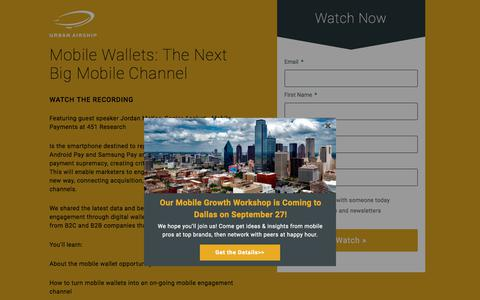 Mobile Wallets: The Next Big Mobile Channel