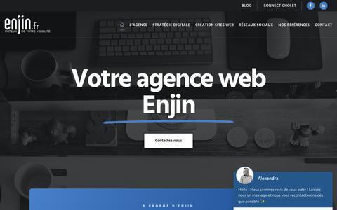 Screenshot of Home Page enjin.fr - Agence Web Cholet - Angers - Création de site internet- Enjin - captured Feb. 22, 2020