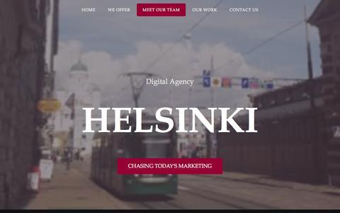 Screenshot of Team Page dahelsinki.com - Digital Agency Helsinki - captured Feb. 4, 2016