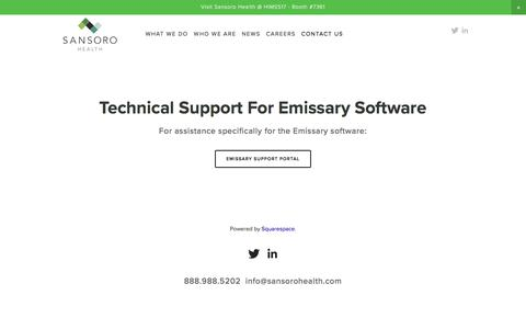 Technical Support — Sansoro Health