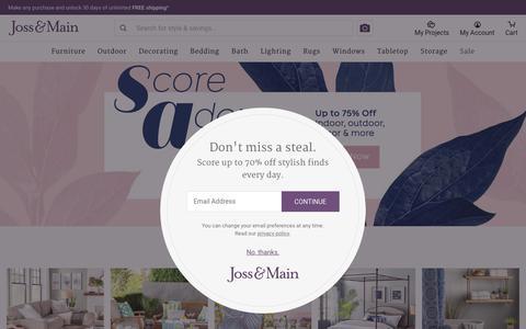 Screenshot of Home Page jossandmain.com - Beautiful Home Decor, Beautifully Priced - captured June 14, 2018