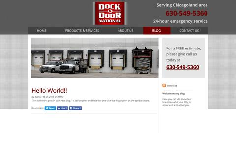 Screenshot of Blog docknational.com - Dock & Door National LLC Blog | Saint Charles, IL - captured Oct. 9, 2018
