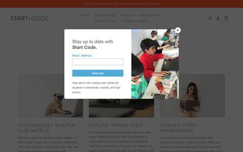 Screenshot of Press Page startcode.net - Start Code Blog - captured Sept. 21, 2018